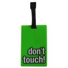 Étiquette bagage dont touch! Vert