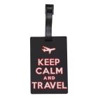 Étiquette bagage Keep Calm and Travel noir