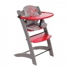 Chaise Haute Evolutive (taupe/rouge)