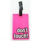 Étiquette bagage don't touch! Rose