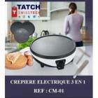 TATCH SwissTech - Crépière éléctrique 3en1