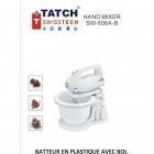 TATCH Swiss tech - Batteur en plastique avec bol