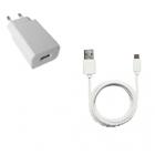 Chargeur USB + câble micro USB 1m