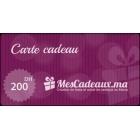 Carte Cadeau MesCadeaux 200 dhs
