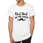 T-shirt Best Dad in the world moustache