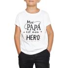 T-shirt enfant Mon papa est mon héro