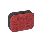 Haut-parleur vintage tissu rouge