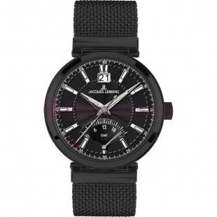 Montre - Jacques Lemans - Bracelet Acier Inoxydable Noir 1-1697E