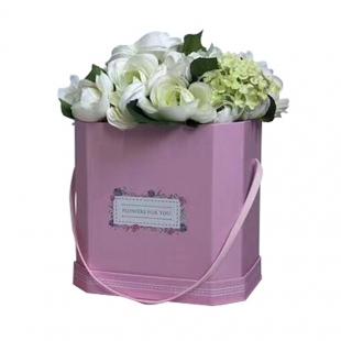 Seau de fleurs en carton petit
