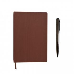 Pack carnet notebook + stylo en métal