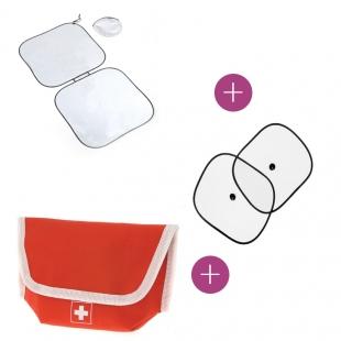 Pack pare-soleil pliable + Pare-soleil vent + Kit d'urgence