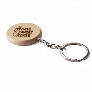 Porte-clés personnalisé en bois