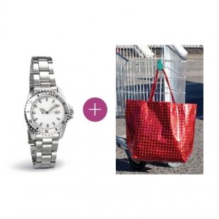 Pack Montre pour femme+ Porte-sac Neb