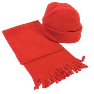 Set écharpe + bonnet rouge