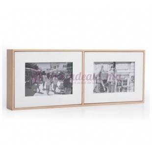Cadre Photo Coffee Bean & Timber pour 2 photos - 10/15 cm