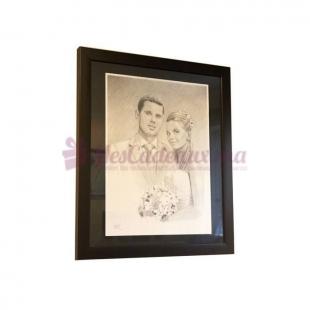 Portrait couple 30 x 42cm