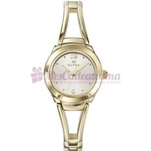 Montre - Clyda De Paris - Bracelet en Acier Inoxydable Doré Cla0287Pbiw