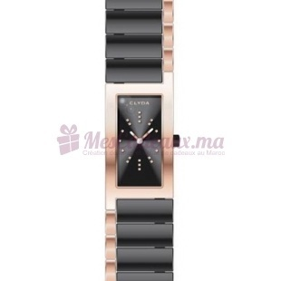 Montre - Clyda De Paris - Bracelet Noir Acier Cld0449Unix