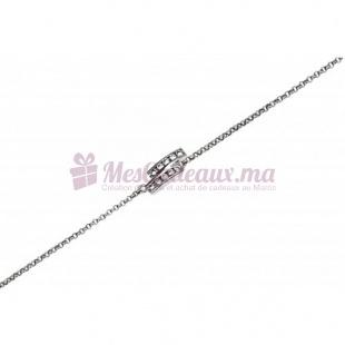 Bracelet Rectangle Chaine fine- Argent - Ted Lapidus D52044Z