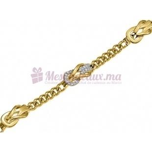 Bracelet Nœud Coulissant - Plaqué Or - Ted Lapidus D53001Z