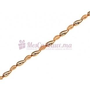 Bracelet Granite Gouttes D'Eau - Plaqué Or - Ted Lapidus D53010