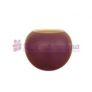 Duo Vase boule et Vase arrondi uni violet