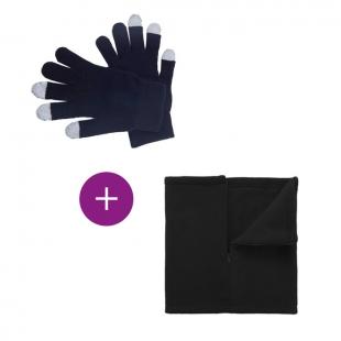 set tour de cou + gants tactiles