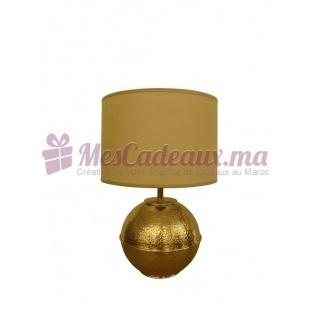 Lampe Boule en laiton doré