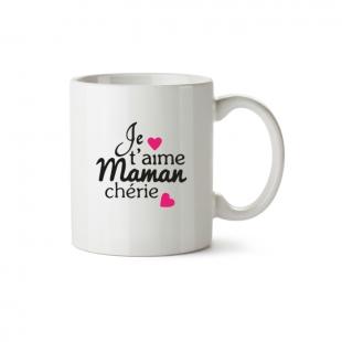 Mug Je t'aime maman chérie