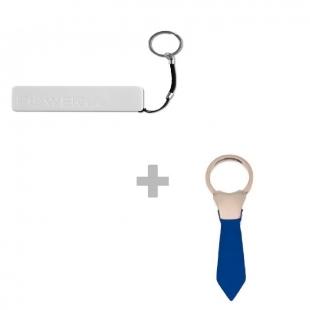 Pack Power bank + Porte clé cravate