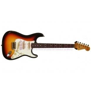 Guitare Electrique Squier Stratocaster Standard Fiesta - Fender - Rouge