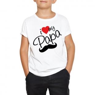 T-shirt enfant I love my papa
