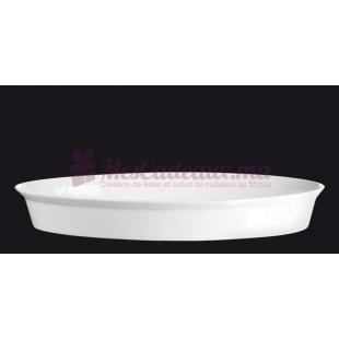 Petit Plat à gratin blanc en porcelaine - ASA Selection