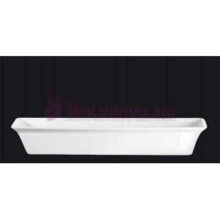Grand Plat à gratin blanc en porcelaine - ASA Selection