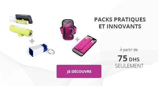 Packs pratiques et innovants à partir de 75 Dhs seulement